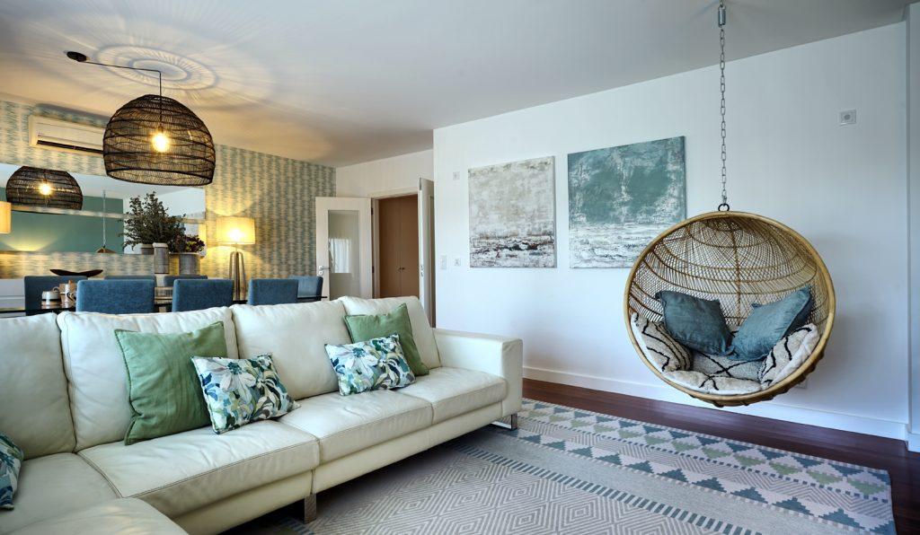 Sala de Estar seguindo as tendências Design de Interiores pós Covid 19